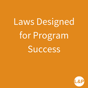 Laws Designed for Program Success