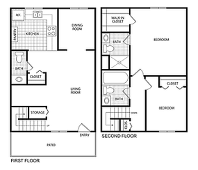 $710 /month  2 bedrooms 2.5 bathrooms 1,275 square feet $710-$740