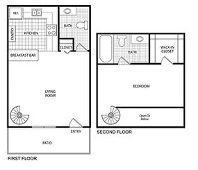 $630 /month  1 bedroom 1.5 bathroom 758 square feet $630-$660