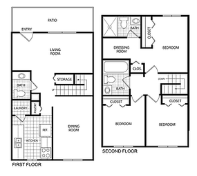 $800 /month  3 bedrooms 2.5 bathrooms 1,474 square feet $800-$860