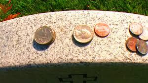 Coins Left on Tombstones
