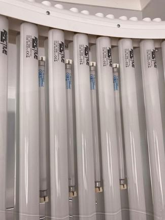 Elite single facial tanning tubes