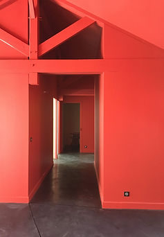 hall rouge Rigaux peinture