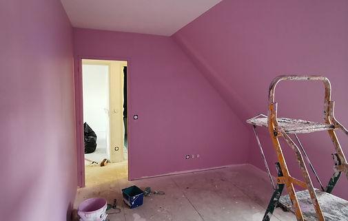 Chambre rose Rigaux peinture