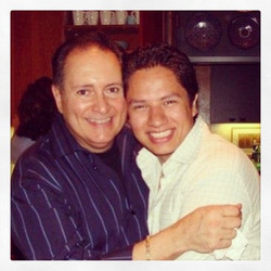 With my voice teacher, Cesar Ulloa.6.43.44
