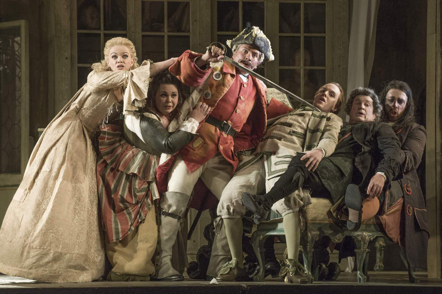 """As """"Count Almaviva"""" in """"The Barber of Seville"""" at English National Opera"""