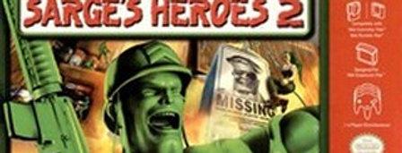Army Men Sarge's Heroes 2 -Nintendo 64