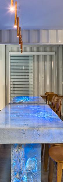Bar Table PIETRAFINA BLUE CALACATTA