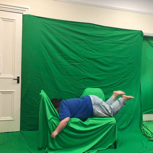 Fun with the green screen!