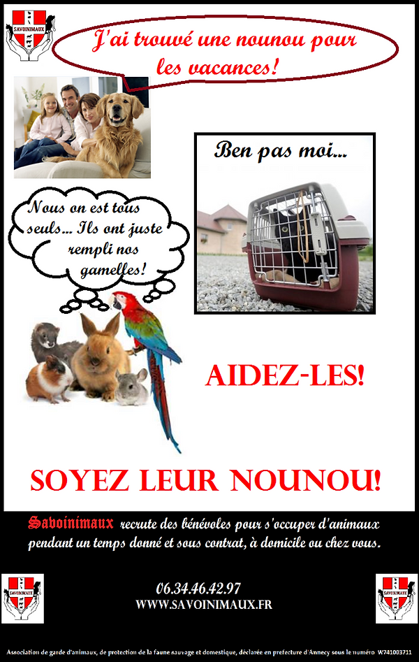 Garde animaux, nounou animaux, protection animale, refuge pour animaux, SPA, donne animaux, pet sitter, garde a domicile