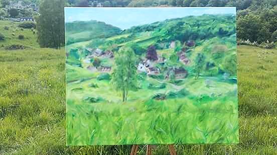 Cranham mindfulness painting Nick Pike