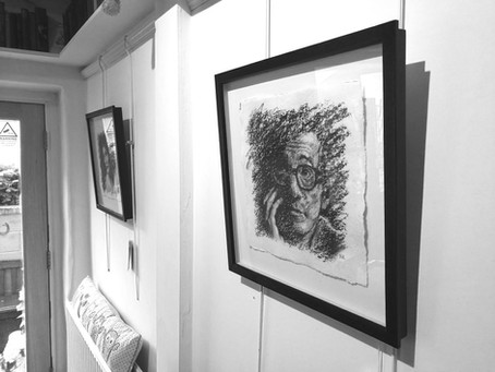 Art Exhibition of New Iconic Portraits at Cotswold Cafe in Painswick