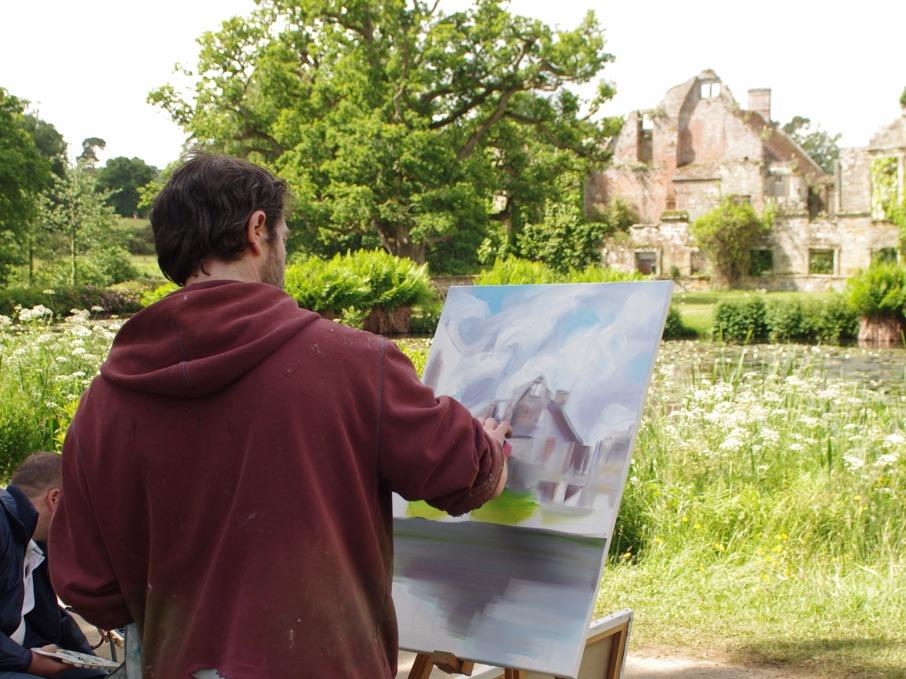 scotney castle close up painting