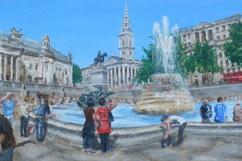 'Meet me at the Fountain' Original Painting