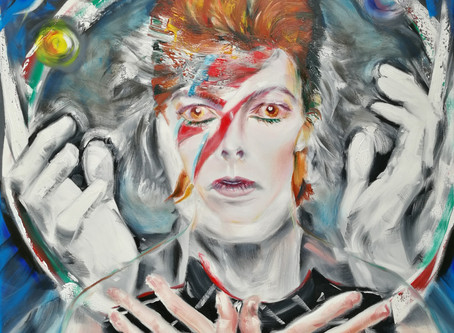 Vibrant David Bowie Portrait at Cotswold Art Exhibition