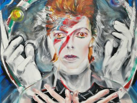 Vibrant David Bowie Portrait at Cotswold Art Exhibition