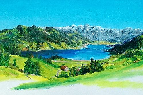 'Einseideln' Original Painting