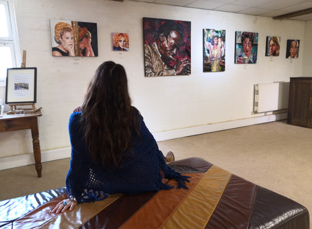 Art exhibition of movie, music & TV icons at The Malthouse Collective
