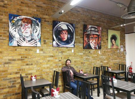 London Art Exhibition in Partridges, opposite Saatchi Gallery