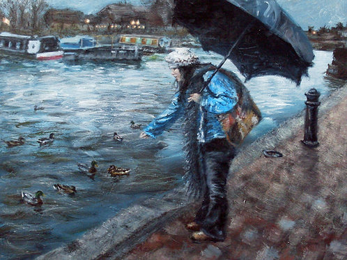 'Nice Weather for Ducks' Original Painting
