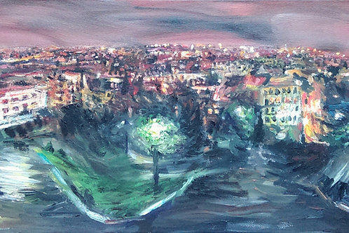 'View from Sacre Coeur' Original Painting