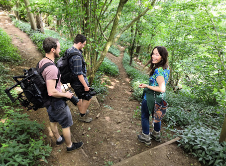 Cotswold Way walking video - behind the scenes