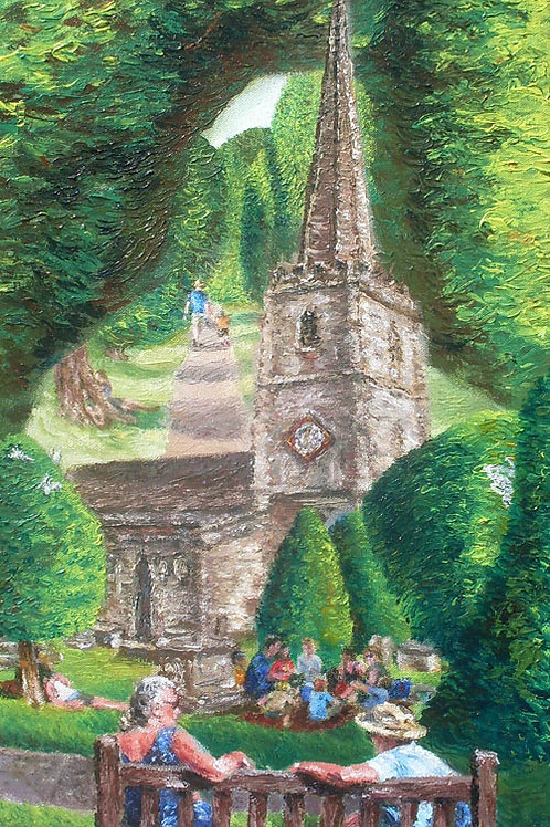 'Yew & Me in Painswick' Greeting Card