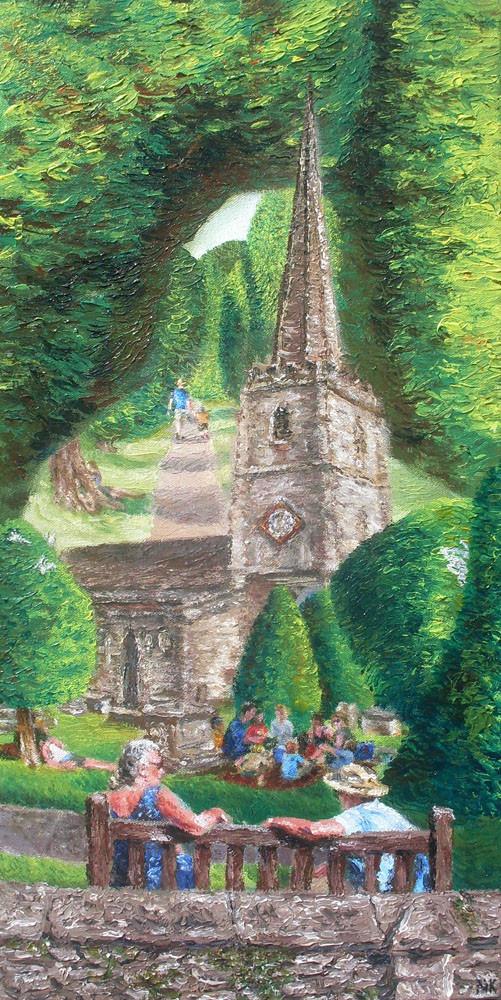Painswick yew trees churchyard