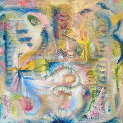 'Reminiscing' Original Oil painting