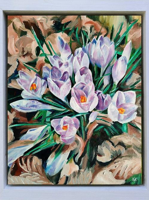 'Lilac & Mauve' Original Oil Painting