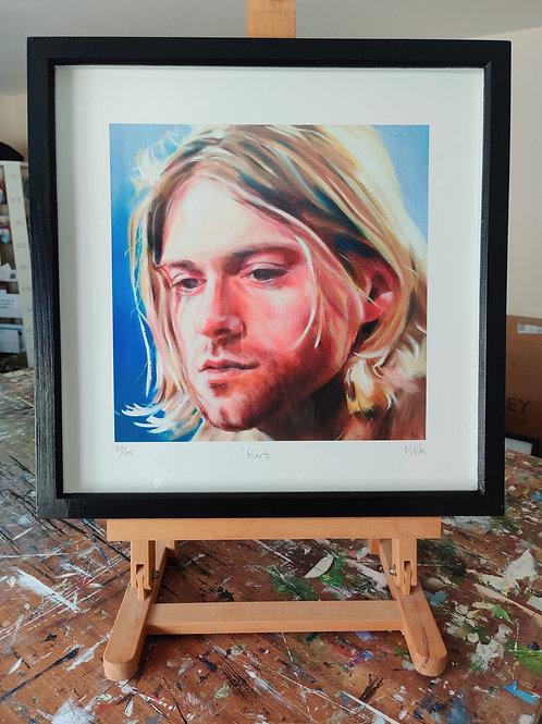 'Kurt' Framed, limited edition print