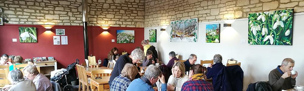 Painswick Rococo Garden cafe art exhibition