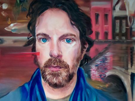 Van Gogh/Munch inspired Self Portrait