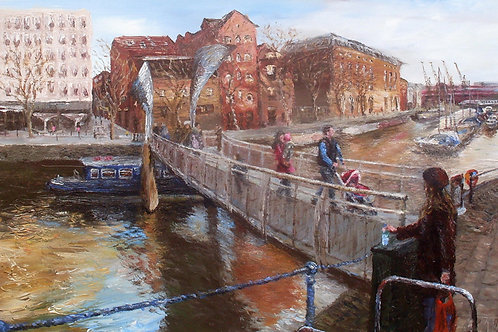 'Bristol Docks' Original Painting