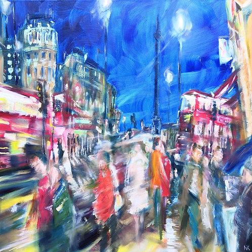 'Trafalgar Square, London' Original Painting