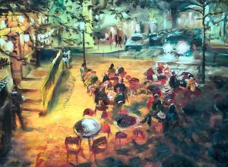 Picasso's View - behind the Montmartre Impressionist painting..