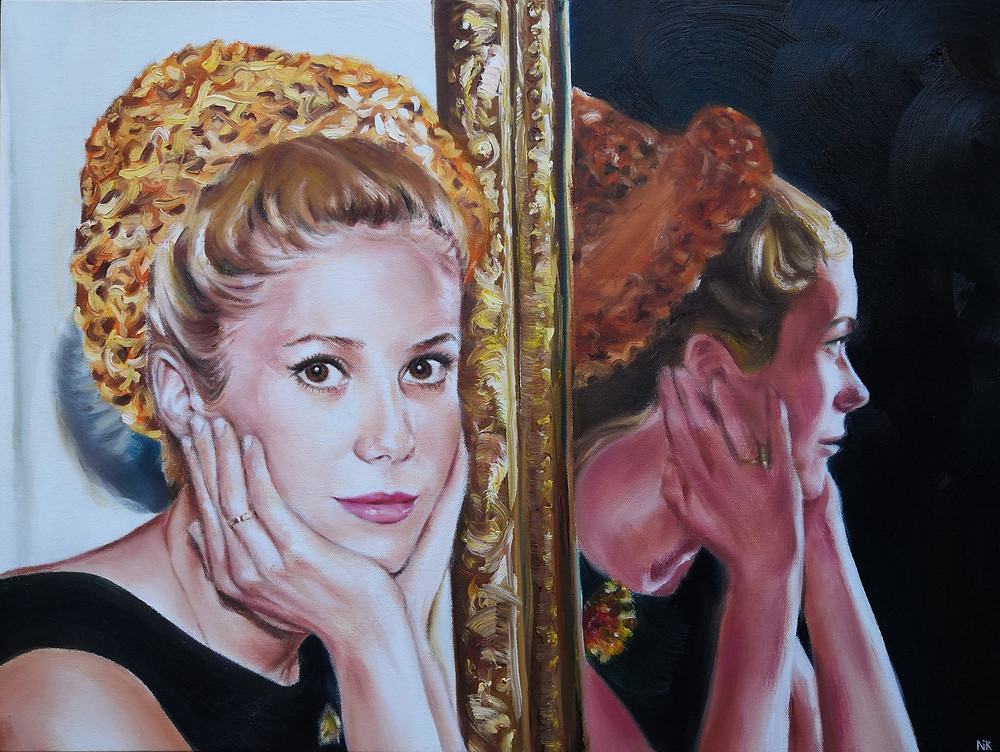 Self Reflection Catherine Deneuve art portrait