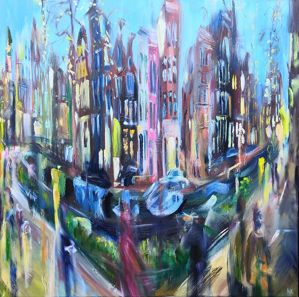 Amsterdam oil painting
