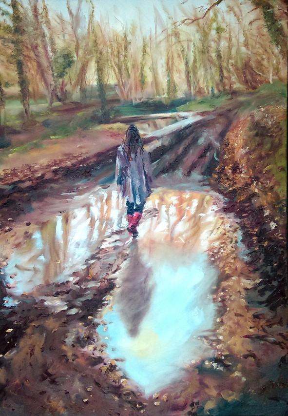 Solitude oil painting_Nick Pike