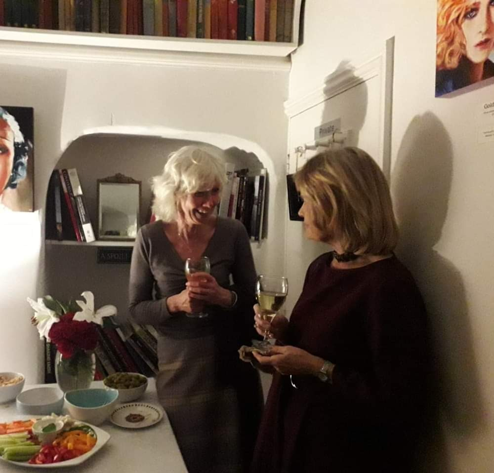 Jo & Anne at Private View