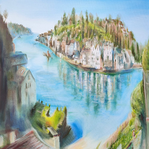 'Fowey Estuary, Cornwall' Original Painting