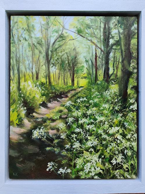 'Cow Parsley Grove, Painswick' Original Oil Painting