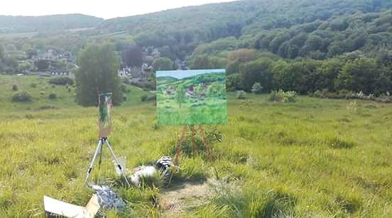 Nickpikeart painting in Cranham