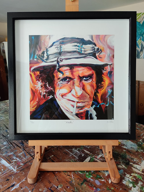 'Keith' Framed, limited edition print