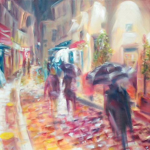 'Rue Norvins, Montmartre' Original Oil painting