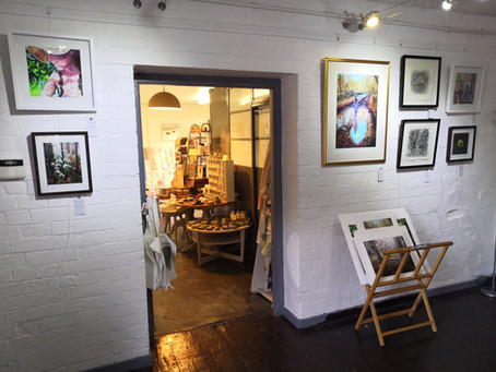 New artwork at Lavender Bakehouse Shop in the Loft in Chalford, Stroud