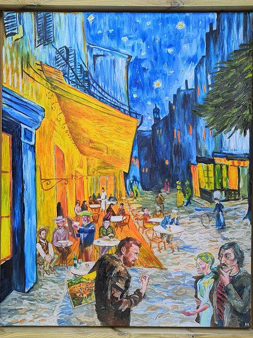 'Van Gogh & Gauguin - Lads Night Out' Original Painting