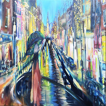 Keizersgracht Canal_Amsterdam_oil painti