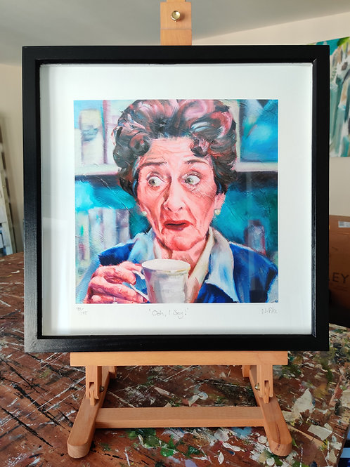 'Ooh, I Say!' Framed, limited edition print
