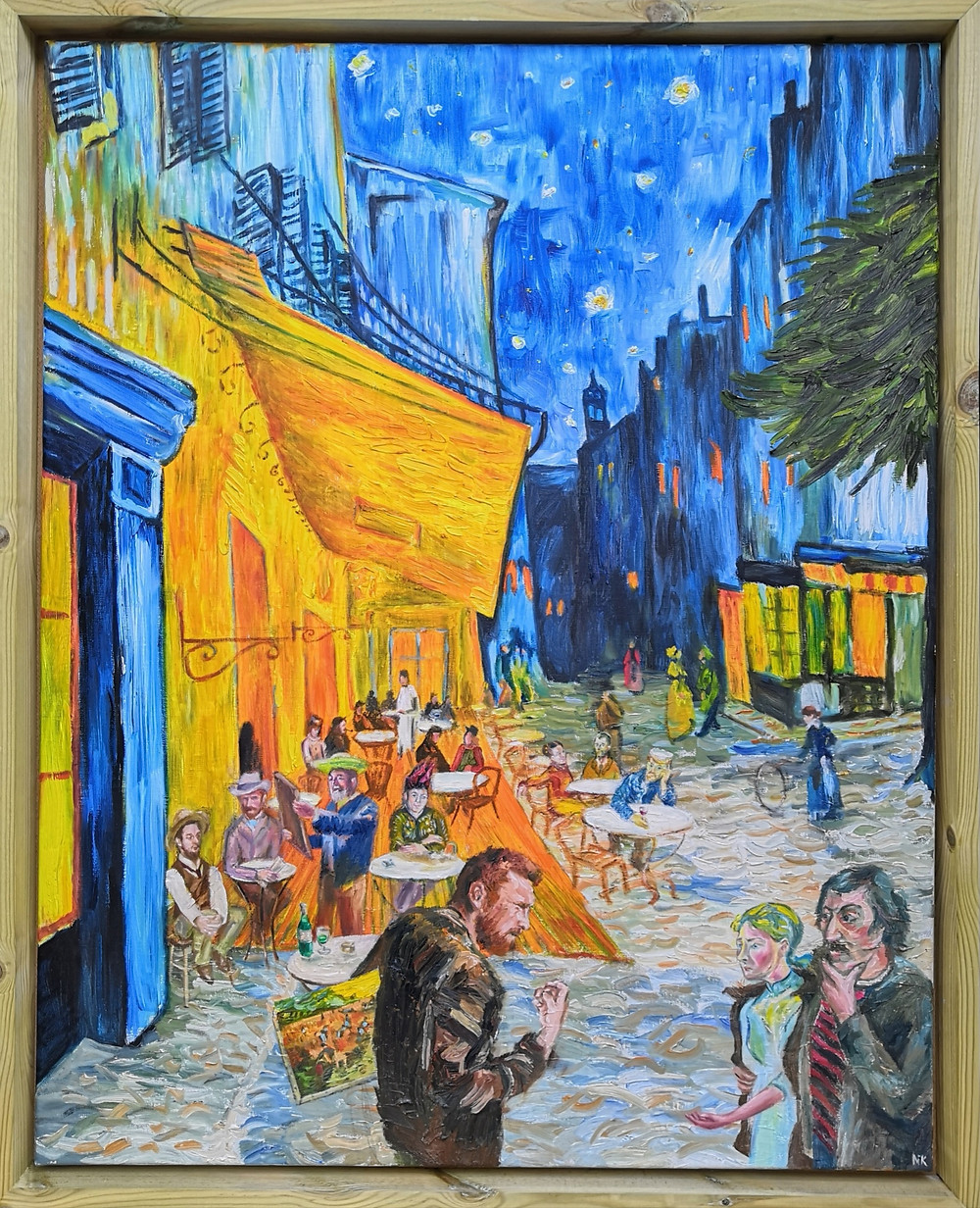 New Interpretation Of Van Gogh S Cafe Terrace At Night By Cotswold Artist